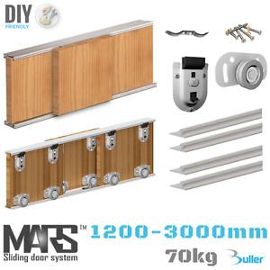 Mars Sliding Door Track System 1200mm-3000 mm. 0 - 4 Door Gear Set For Wardrobe