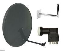 80CM Mesh Satellite Dish With Wall Mount & Quad LNB