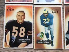 NICE! 1955 Bowman NFL Football Card LOT of 14 STARS Hall HOF Blanda Robustelli