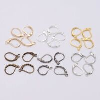 20pcs 15*10mm French Lever Earring Hooks Wire Settings Base Hoops For DIY Making