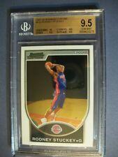RODNEY STUCKEY 2007-08 Bowman Chrome Rookie #132 BGS GEM MINT 9.5 RC Pistons #'d