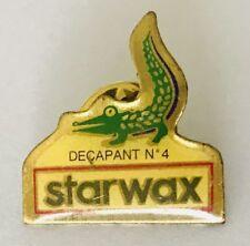 Starwax Decapant No4 Crocodile Advertising Lapel Pin Badge Vintage (C10)