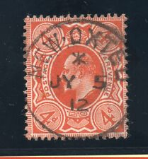KED VII Sg 241 4d orange has a thin but very fine New Oxted cds pmk.