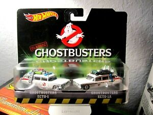2015 Hot Wheels Classic Ghostbusters Ecto-1 and Ecto1A die-cast vehicle 2-pack