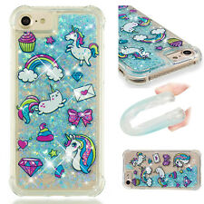 Bling Quicksand Liquid Rubber TPU Case Cover For iPhone 5 6 7 8 & iPod Touch 5 6