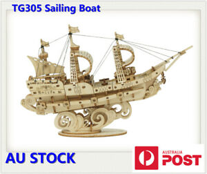 Rolife 3D Wooden Puzzle Ship Models Building Kits Gift Sailing Boat Cruise Boat