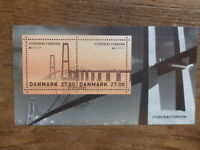 DENMARK 2018 EUROPA STAMPS- BRIDGES 2 STAMP MINI SHEET CTO FIRST DAY OF ISSUE