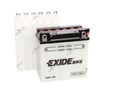 Batterie moto Exide 12N7-3B 12V 7AH 135X75X133MM ACIDE COMPRIS