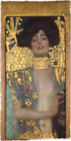 GUSTAV KLIMT JUDITH GOLD FRAMED REPRODUCTION LIMITED EDITION ART PRINT 17.5x35.9