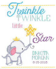 Cross Stitch Kit ~ Twinkle Twinkle Little Star Birth Announcement #182-0412