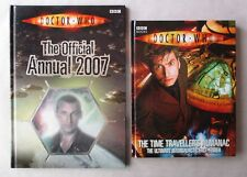 Doctor Who Time Traveller's Almanac 2008 BBC & Official 2007 Annual HC 2 Books