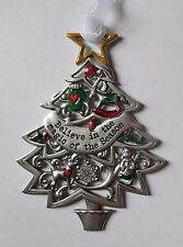 HD Believe in the magic of season ORNAMENT Christmas Wishes Tree Ganz car charm