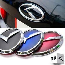 3D K Logo Rear Trunk Emblem Black / Blue / Red for KIA RIO 4DR Sedan 2012-2015