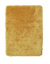 Think Rugs Monte Carlo Hand Made Shaggy Rug, Yellow, 60 x 115cm