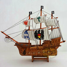 "WOOD MODEL 13.5""length PIRATE SHIP Sailing Boat Corsair Tall Ship Nautical decor"