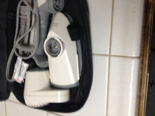 Vintage Travel kit hair dryer and travel iron Black Leather Case