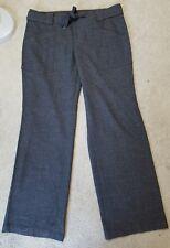 Anthropologie Size 12 Cartonnier Gray Dress Career Pants Tie Waist Wide Leg