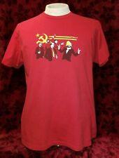 LARGE Communist Party T-shirt Funny Marx Lenin Mao Castro