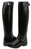 FAMMZ RAVEN Woman Ladies Police Motorcycle Riding Engineer Leather Tall Boots