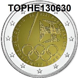 """PORTUGAL COMMÉMORATIVE 2021 """"JEUX OLYMPIQUES"""" 2 EURO - NEUVE UNC -"""