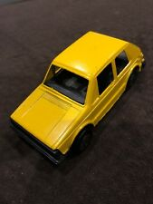Old Vtg Collectible Tootsietoy Diecast Plastic Yellow VW Rabbit Toy Car USA
