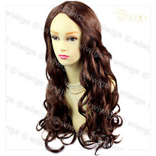 Wiwigs Romantic Curly Long Dark Auburn Red Mix Ladies Wig