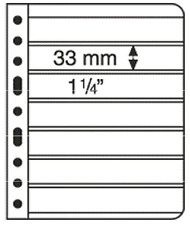 Lighthouse Vario Stamp Storage Pages-7S-7 to a-Sheet-Black Back-2 sided