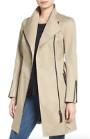 Mackage Sand Estela Belted Trench Coat Women's Size Small 83628
