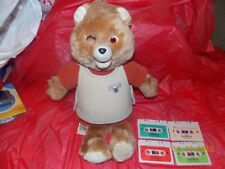 Vintage Teddy Ruxpin 1985 Bear For Parts or Repair Clean Battery Comp. 4 tapes