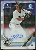 2019 Bowman Chrome JOSE DEVERS Autograph Rookie #CPA-JD Miami Marlins RC