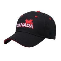 Men Lady Baseball Cap CANADA Embroidery Hight Qualtity Adjustable Maple Leaf Hat