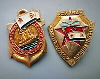 """Soviet  Badges SET """" Glory to the Fleet and the Army"""""""