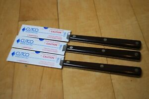 Set of 3 Vintage Cutco 47 Straight Edge Steak Table Knives Factory Refurbished