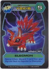 BANDAI D-TECTOR HOLO FOIL RARE CARD - DT-38 ELECMON Rookie Level Digimon NM-Mint