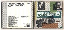 Cd DUKE ELLINGTON Live in Italy 1967 Vol II 2 Jazz Up 1989 No barcode Rome