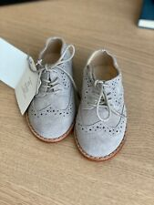 Janie and Jack Boys Suede Wingtip Dress Shoes - Size 4