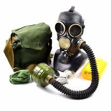 Soviet russian gas mask GP-7V. Black + rubber hose. New full set. All equipment.