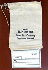 Original M P Moller Motor Car Co Small Parts Canvass Bag Dagmar, 1910's - 1930's