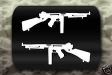 SMG Thompson Machine Gun Decal Stickers Allied WW2