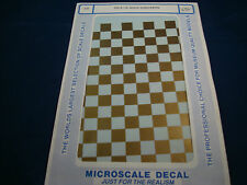 MICROSCALE DECALS AIRPLANE CH-3 1/2 GOLD CHECKERS NEW