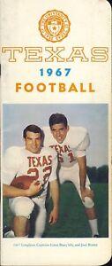 1967 Texas Longhorns Football Media Guide Baer Brame