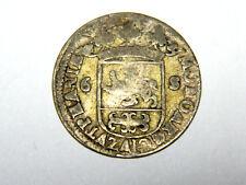 "Scarce, Netherlands, Zutphen, silver 6 shillings ""rijdershelling"", 1689."