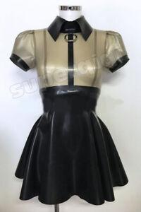 100% Latex Rubber Gummi .45mm Dress Skirt Catsuit Suit Buckle Unique Party NEW