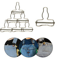 40mm Metal Dungaree Buckles Silver Fastener Repair Clothes Coat Bib Overall Belt