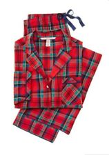 Victoria's Secret The Flannel Red Plaid Pajama Set NWT Size M Soft Light Weight