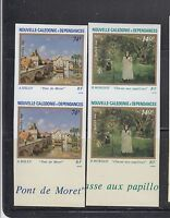 New Caledonia 1986 Paintings Sc 551-552  IMPERF PAIR Mint Never Hinged