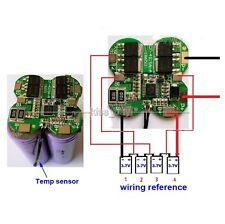 4S 15A 14.8V Lithium Li-ion 18650 Battery Packs Protection BMS PCB Board Circuit