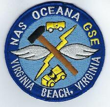 NAS Oceana GSE Virginia Beach VA (US Navy Installation Patch) (from unit 1970's)