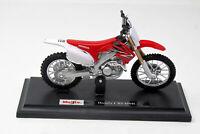 Modell Motorrad 1:18 Honda CRF450R mit Sockel  Maisto