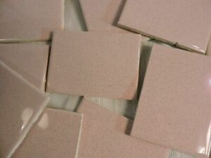 Craft tile CUT Scrap VINTAGE PINK speckled 3 LBS Mosaic Art Projects